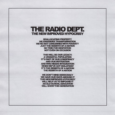 The Radio Dept. – The New Improved Hypocrisy