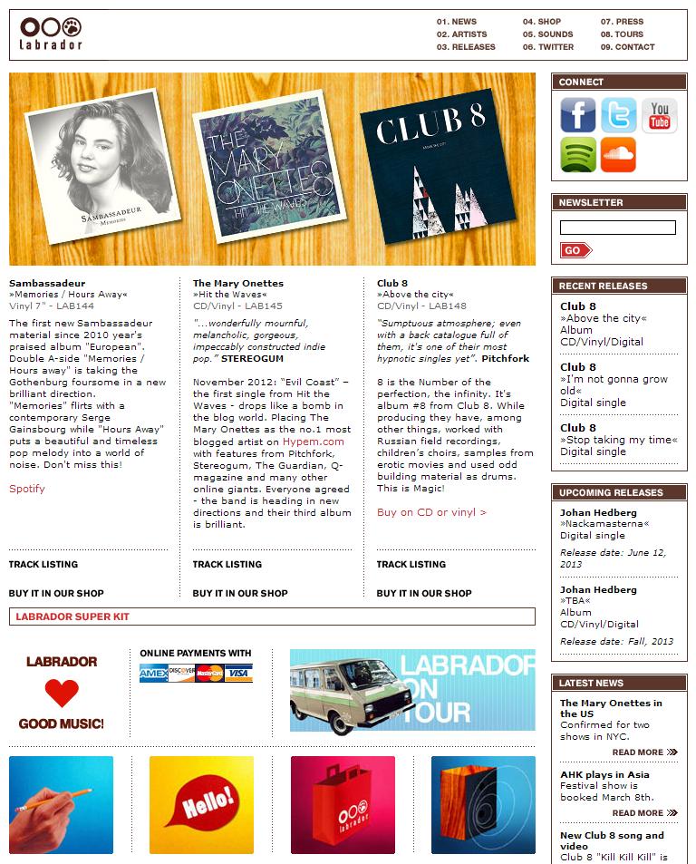 Labrador Website 2001-2013